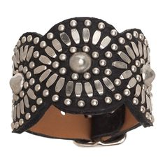 Calleen Cordero Black Tania Leather Cuff Bracelet – Favery