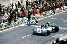 Jackie Stewart winning the 1972 French Grand Prix Jackie Stewart, Formula 1, Blue Meanie, Michele Alboreto, Jody Scheckter, Charades, Grand Prix, Vintage Cars, Race Cars