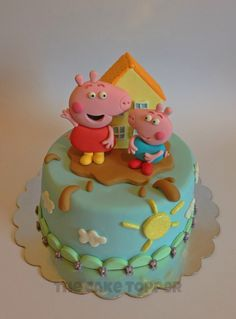 See 7 photos from 2 visitors to The Cake Topper. Fondant, Cumple Peppa Pig, Peppa Pig Birthday Cake, Cake Toppers, Child, Disney, Desserts, Food, Candles