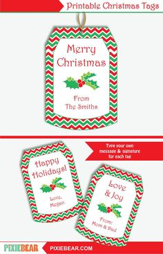 Christmas Gift Tags - Printable Christmas Labels, Personalized To From Tag, Editable Holiday Tags Template, Christmas Teacher Tags for Kids Christmas Gift Tags Template, Christmas Printables, Party Printables, Diy Gifts For Friends, Handmade Christmas Gifts, Printable Tags, Wrapping Ideas, Gift Wrapping, Holiday Decorating