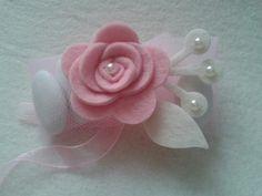Portaconfetti in rosa e perle