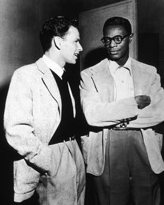 Frank Sinatra and Nat King Cole (both so young!)