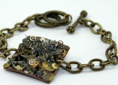 Steampunk Collage Bracelet  Vintage Watch by RedPeacockDesigns, $24.00