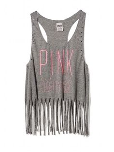 PINK Fringe Racerback Tank #VictoriasSecret http://www.victoriassecret.com/pink/all-sale-clear-ance/fringe-racerback-tank-pink?ProductID=112610=OLS?cm_mmc=pinterest-_-product-_-x-_-x