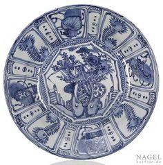 A deep blue and white kraak porcelain plate, China, Wanli period