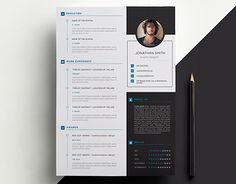Page Cv Template  Beautiful Resume Design Template