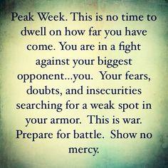 Peak week.