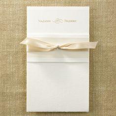 Blush and Neutral Wedding Ideas - Tied in Elegant Ecru - Invitation | Occasions In Print, LLC (Invitation Link - http://occasionsinprint.carlsoncraft.com/Wedding/Wedding-Invitations/3124-BSF5878-Tied-in-Elegant-Ecru--Invitation.pro)