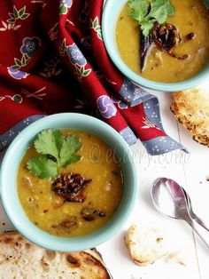 Red Lentils with Cumin and Fried Onions | eCurry - The Recipe Blog