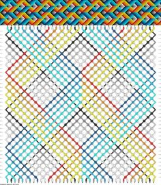 Friendship bracelet pattern 60298 - 40 strings, 15 colours new Diy Bracelets With String, Yarn Bracelets, Bracelet Crafts, Friendship Bracelets Tutorial, Diy Friendship Bracelets Patterns, Bracelet Tutorial, Leather Jewelry Making, Loom Patterns, Loom Beading
