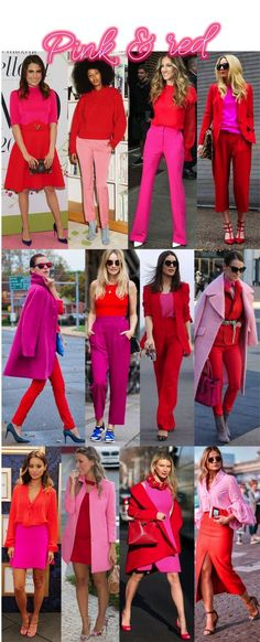 A volta do colorblocking: Vermelho e rosa – Outfit Inspiration – Amazing Outfits Color Blocking Outfits, Color Combinations For Clothes, Look Fashion, Trendy Fashion, Fashion Outfits, Womens Fashion, Estilo Casual Chic, Casual Chic Style, Trendy Style