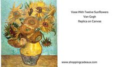 Van Gogh replica on canvas - Vase With Twelve Sunflowers  Great shopping gift idea with a beautiful Vincent van Gogh oil painting reproductions to select among many quality artwork from van Gogh studio ! A stunning still life of twelve sunflowers in a yellow vase in front of a light blue background.  The sunflowers all angles and shape, one of the... https://www.shoppingcadeaux.com/home-garden/van-gogh-replica-on-canvas-vase-with-twelve-sunflowers.html - Shopping Cadeaux - oi