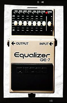 Deal on Boss GE-7 7-Band EQ Guitar Pedal. $63