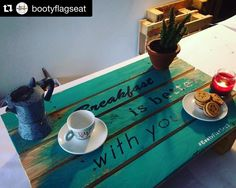 #Repost @bootyflagseat with @repostapp.  Good Morning [ New breakfast in Bed Tray - Nuovo vassoio per Colazione a letto]... Breakfast is better with you... #restyling  #notonlychairs #cute #design #cool #recycle #amazing #colours #sustainabledesign #tools  #instaart #recycledartist #handcrafted #woodworking #recycledfurniture #reclaimedwood #reuse #upcycle #finewoodwork #regenerate #green #pallet #breakfast in #bed by kekkyb #furniture