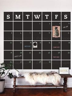 Exceptional Chalkboard Calendar Wall Decal   Extra Large