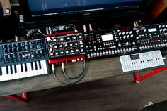 More Elektron gear, plus Minibrute, Minitaur and OP-1.