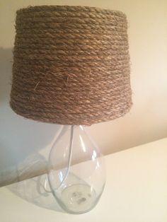 Nautical rope lamp shade beach decor Rope Lamp, Nautical Rope, Charles River, Shades, Clocks, Beach, Lamps, Vintage, Bedroom