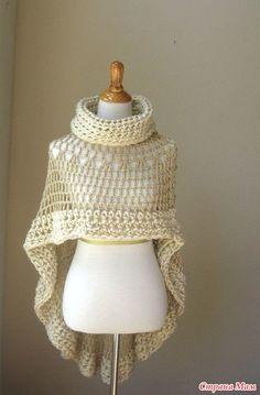 Several interesting crochet poncho. Add.