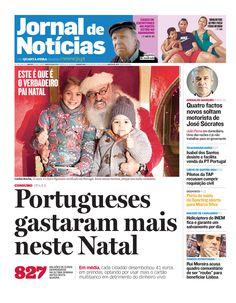 Bom dia! Já leu o JN de hoje (e ficou a conhecer o verdadeiro Pai Natal de Portugal)? Espreite a primeira página.