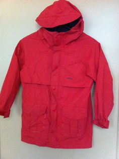 LL Bean RED Hooded Raincoat Jacket Child Kids Size XS 6 | eBay