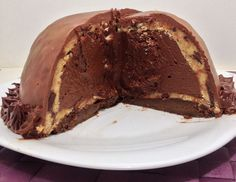 Cookie Dough Chocolate Mousse Bombe