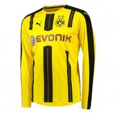 BVB BoRyssland Dortmund 16-17 Hemmatröja Långärmad  #Fotbollströjor