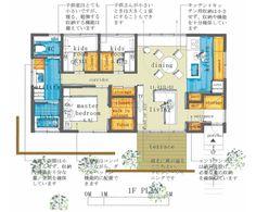コンセプト  20坪程度の子育て世代の小さな家です 個室は主寝室+子供室2部屋で、リビング・ダイニングは南北につながっているので、光と風が通りぬけ気持ち...