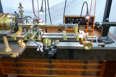 Photos of the gorgeous MADE Ornamental Rose Engine by David Lindow. Engineering Tools, Industrial Machine, Maker Shop, Man Cave Garage, Milling Machine, Metalhead, Lathe, Turning, Workshop