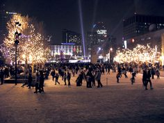 New Years Celebrations in Downtown Edmonton near city hall :)