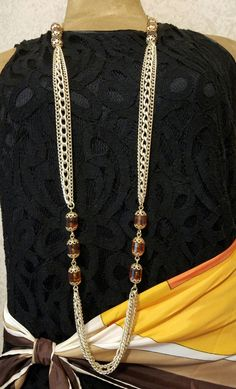 Sarah Coventry Long Chain Necklace Sarah Cov by Beadgarden55