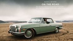 "This is the second film in series called ""ON THE ROAD"" in collaboration w/ MR PORTER & BELSTAFF.    Watch as Mercedes-Benz restoration specialist Mr J G Francis puts a 1973 250C Coupé through its paces in the California desert  MR PORTER article : http://www.mrporter.com/journal/belstaff-x-mr-porter/on-the-road/233 DEVOUR article : http://devour.com/video/on-the-road-with-jg-francis/  CLIENT : MR PORTER X BELSTAFF Director & DP : Cale Glendening Producer : Elizabeth Brissenden 1st ..."
