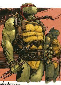 """""""Teeange Mutant Ninja Turtles - Raphael by Sean Murphy, colours by Mike Spicer * """" Teenage Ninja Turtles, Ninja Turtles Art, Ninja Turtle Drawing, Tmnt Girls, Tmnt 2012, Comic Artist, Marvel, Comic Books Art, Manga"""