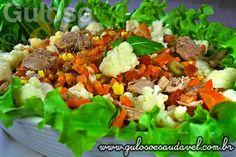 Bora fazer a saladinha do #almoço? A Salada de Couve Flor e Rúcula leva também atum e a Maionese de Abacate, é muito nutritiva e deliciosa! #Receita aqui: http://www.gulosoesaudavel.com.br/2013/05/20/salada-couve-flor-rucula/