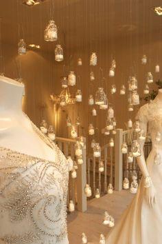 Phillipa Lepley Window. Pearl filled bottles. www.phillipalepley.com