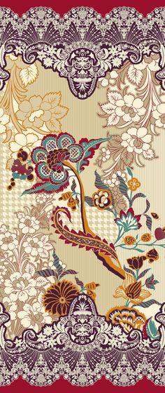 Textile Pattern Design, Textile Patterns, Textile Prints, Pattern Art, Print Patterns, Textiles, Cnc Cutting Design, Fashion Illustration Sketches, Illustrations
