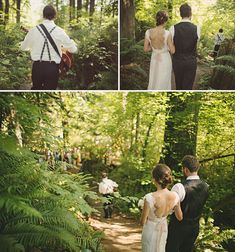 Amanda + Liam's Treehouse Point Real Wedding Wedding Ceremony Ideas, Outdoor Ceremony, Wedding Entrance, Reception, Enchanted Forest Wedding, Woodland Wedding, Rustic Wedding, Magical Forest, Wedding Decor