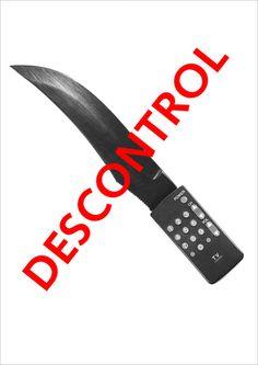 Cartel: control vs descontrol en TV Control, Fitbit, Tv, Design, Poster, Television Set, Television