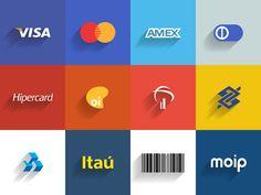 Meios de pagamento Moip - Flat by Rivaldo da Rosa, via Behance