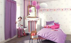 CASELIO Collection : GIRLS ONLY / Patchwork #Papierpeint #decoration #interieur #fille #girl #douceur #reve #Caselio  http://www.caselio.fr