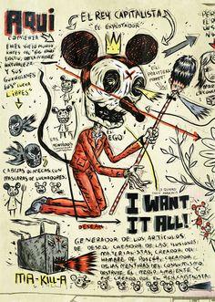 mickey mouse as the vilan