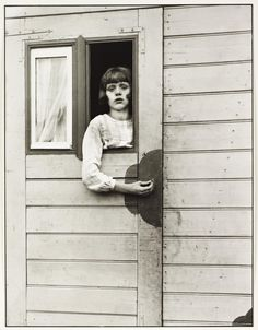 August Sander 'Girl in a Fairground Caravan', 1926–32.