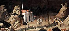 Agnolo Gaddi - La Leggenda della vera Croce: 4 Sant'Elena ritrova la Santa Croce, dettaglio - affresco - 1380 -1390 - parete destra Cappella Maggiore - Basilica Santa Croce, Firenze