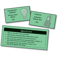What Would We Do Without...? Practice inference skills with this easy-to-use center. Students randomly select an invention card and answers the questions on her paper.