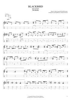 Blackbird by The Beatles - Solo Ukulele Guitar Pro Tab Music Tabs, Ukulele Tabs, Ukulele Chords, Beatles Guitar, The Beatles, Saxophone Fingering Chart, Ukulele Fingerpicking Songs, Ukulele Songs, Sheet Music