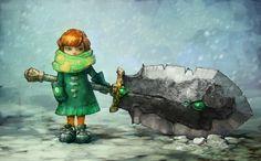Snow girl by ~Rahmatozz on deviantART