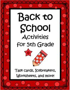 This 36 page set of worksheets, task cards, games, a writing activity, math activities and more will keep your kids busy learning the first week. Great activities to help you get to know the kids, while allowing them to get to know one another, and helping them make the transition to a new classroom. Love this for Back to School! $