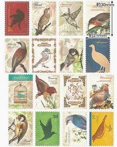 stampステッカー Bird