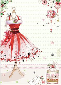 Our key principles are Fairness, Ability, Creativity, Trust and that's a F. Noel Christmas, Vintage Christmas Cards, Pink Christmas, Christmas Pictures, Xmas Cards, Christmas And New Year, Christmas Crafts, Christmas Fashion, Illustration Noel