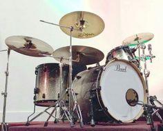 Pearl drums en Zildjian cymbals