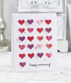 Well, I'm quite late in sharing this anniversary card I made for my husband. We just celebrated 22 years of marriage, but this card is fr. Anniversary Cards For Husband, Happy Anniversary, Wedding Anniversary, 21st Birthday Cards, Valentine Day Cards, Greeting Cards Handmade, Wedding Cards, Cardmaking, Paper Punch